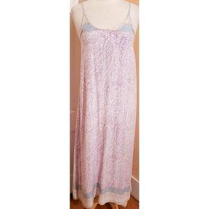 Tobi Purple Paisley Maxi Dress Boho Hippie